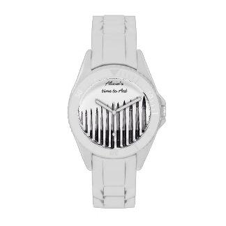 Cepillos del artista - reloj adaptable del ejemplo