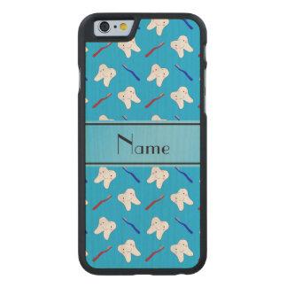 Cepillos del azul y modelo conocidos funda de iPhone 6 carved® de arce
