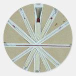 Cepillos usados en la pintura de la laca, higo 5 pegatina redonda