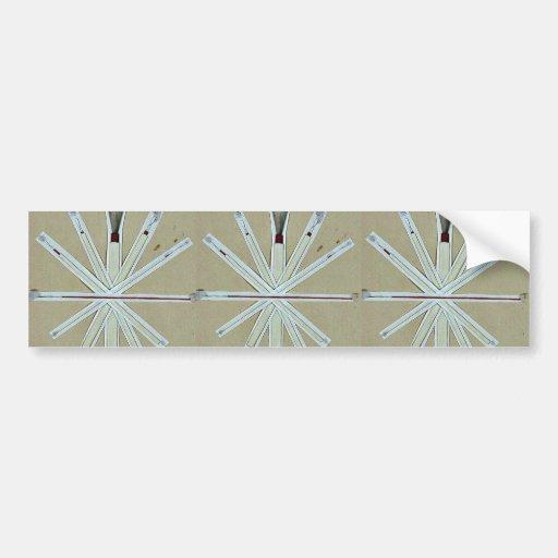 Cepillos usados en la pintura de la laca, higo 5 U Pegatina De Parachoque