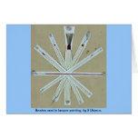 Cepillos usados en la pintura de la laca, higo 5 U Felicitaciones
