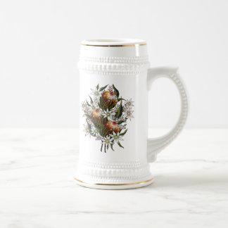 Cera de Geraldton, flores de la franela, Banksia Taza De Café
