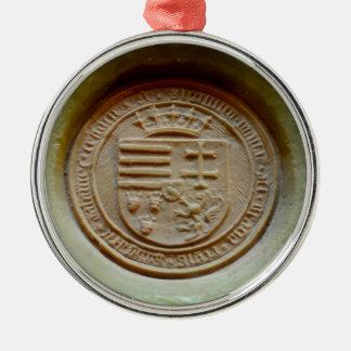 Cera de Hungría del museo de Budapest del sello de Adorno Navideño Redondo De Metal