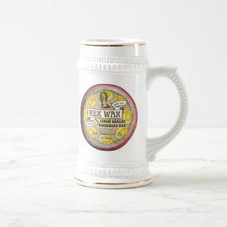 Cera de Rex: Cerveza hecha a mano Stein 18oz de la Jarra De Cerveza