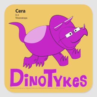 Cera is a Triceratops Square Sticker