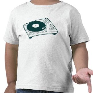 Cera placa giratoria de la escuela vieja camisetas