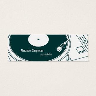 Cera/placa giratoria de la escuela vieja tarjetas de visita mini