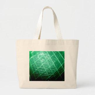 Cera verde cortada bolsa lienzo