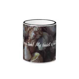 Ceramic 11 oz. ringer mug.