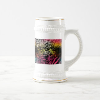 Ceramic Abstract Beer Stein
