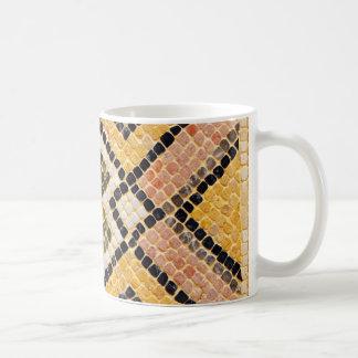 ceramic arab mosaic hone tile crockery shards coffee mug