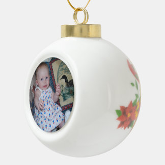 Ceramic Ball Bell Image Ornament Create Your Own