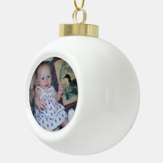 Ceramic Ball Tree Image Ornament Create Your Own