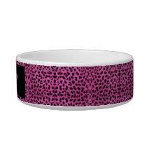Ceramic bowl for animals Leopard