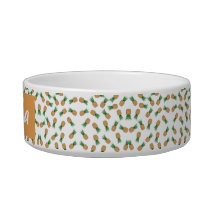 Ceramic bowl for animals Pattern Pineapple