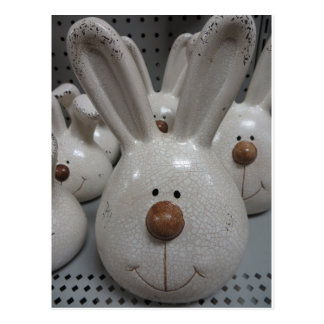 Ceramic Bunny Head Postcard
