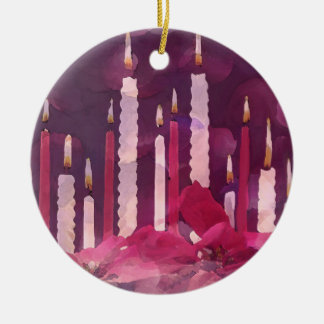 Ceramic Christmas Candle Ornaments