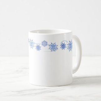 Ceramic Coffee Mug-Blue Snowflakes Coffee Mug