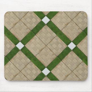 Ceramic Concrete Tiles Diagonal Green Grey Mouse Pad