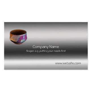 Ceramic Copper-matt Raku Pottery, metallic-look Double-Sided Standard Business Cards (Pack Of 100)