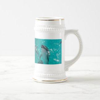 Ceramic Dolphin Stein