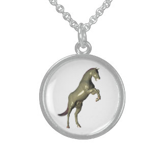 Ceramic Horse Rearing Necklace