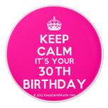 [Crown] keep calm it's your 30th birthday  Ceramic Knobs Ceramic Knob