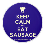 [Chef hat] keep calm and eat sausage  Ceramic Knobs Ceramic Knob