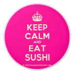 [Crown] keep calm and eat sushi  Ceramic Knobs Ceramic Knob