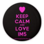 [Love heart] keep calm and love im5  Ceramic Knobs Ceramic Knob