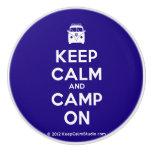 [Campervan] keep calm and camp on  Ceramic Knobs Ceramic Knob