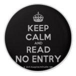 [Crown] keep calm and read no entry  Ceramic Knobs Ceramic Knob