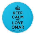 [Crown] keep calm and love omar  Ceramic Knobs Ceramic Knob