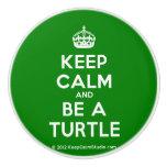 [Crown] keep calm and be a turtle  Ceramic Knobs Ceramic Knob
