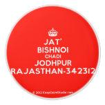 [Crown] jat' bishnoi chadi jodhpur rajasthan-342312  Ceramic Knobs Ceramic Knob