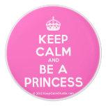 [Crown] keep calm and be a princess  Ceramic Knobs Ceramic Knob