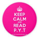 [Crown] keep calm and read p.y.t  Ceramic Knobs Ceramic Knob
