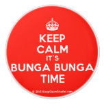[Crown] keep calm it's bunga bunga time  Ceramic Knobs Ceramic Knob