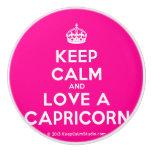 [Crown] keep calm and love a capricorn  Ceramic Knobs Ceramic Knob