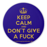 [Dancing crown] keep calm and don't give a fuck  Ceramic Knobs Ceramic Knob