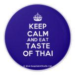 [Crown] keep calm and eat taste of thai  Ceramic Knobs Ceramic Knob