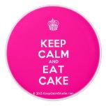 [Cupcake] keep calm and eat cake  Ceramic Knobs Ceramic Knob