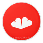 [Two hearts]  Ceramic Knobs Ceramic Knob