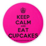 [Cupcake] keep calm and eat cupcakes  Ceramic Knobs Ceramic Knob