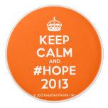 [Crown] keep calm and #hope 2013  Ceramic Knobs Ceramic Knob