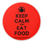 [Cutlery and plate] keep calm and eat food  Ceramic Knobs Ceramic Knob