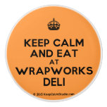 [Crown] keep calm and eat at wrapworks deli  Ceramic Knobs Ceramic Knob