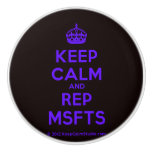 [Crown] keep calm and rep msfts  Ceramic Knobs Ceramic Knob