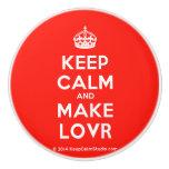 [Crown] keep calm and make lovr  Ceramic Knobs Ceramic Knob