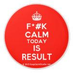 [Crown] f*#k calm today is result  Ceramic Knobs Ceramic Knob